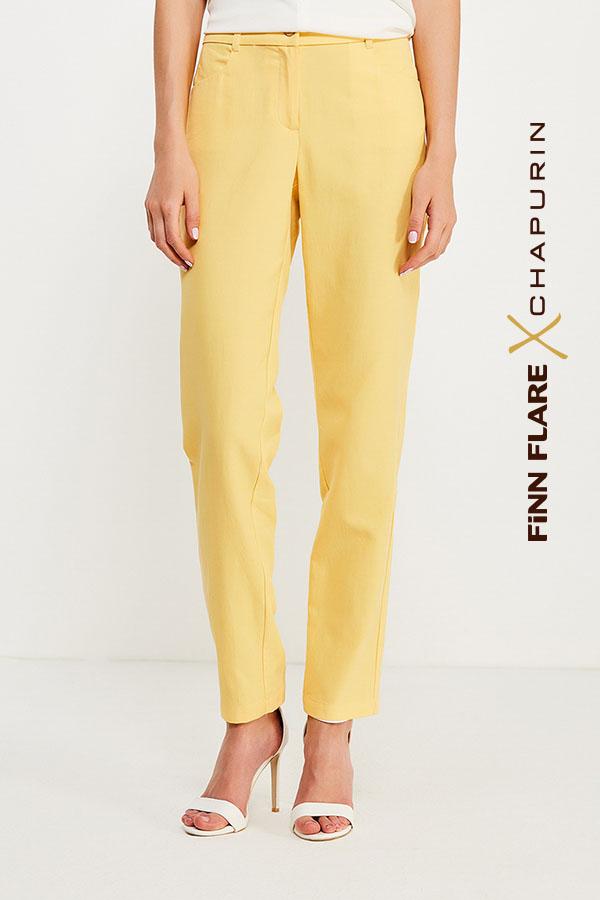 Фото 7 - Брюки женские желтого цвета