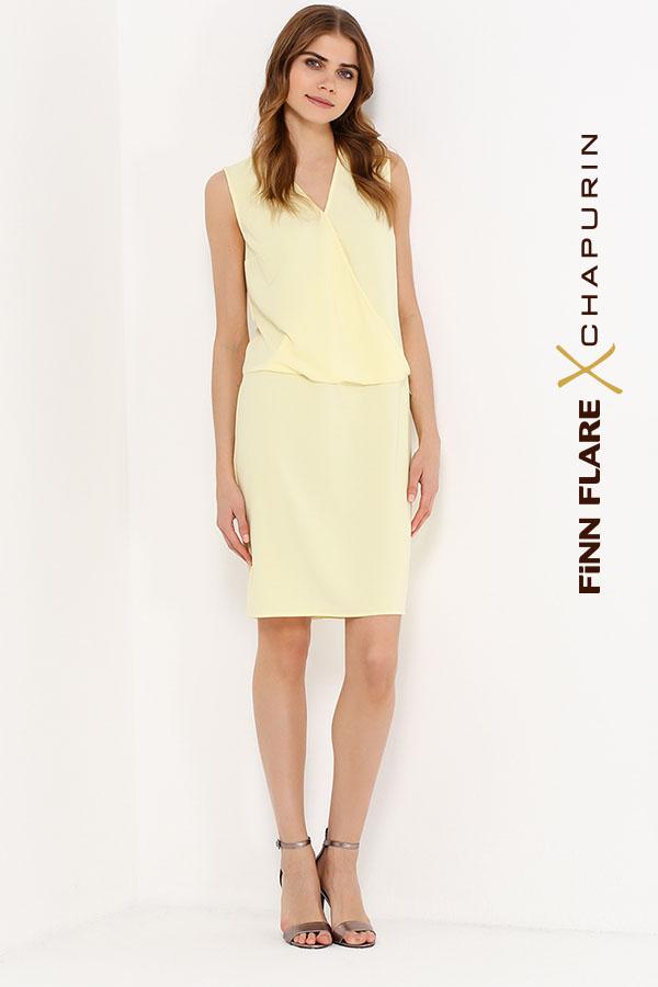 Фото 10 - Платье женское желтого цвета