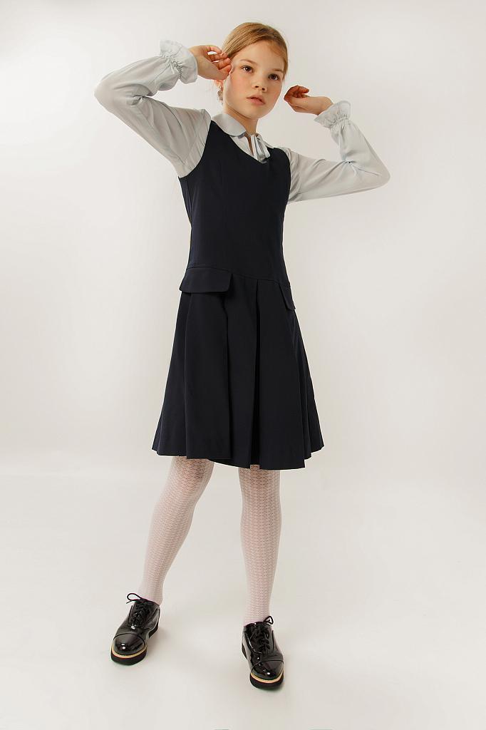 Фото 14 - Платье для девочки темно-синего цвета