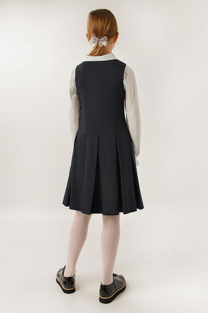 Фото 16 - Платье для девочки темно-синего цвета