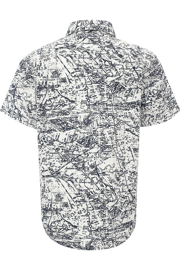 Фото 2 - Рубашку для мальчика серого цвета