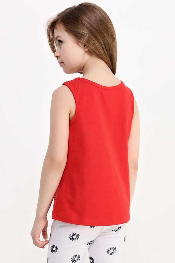 Фото 8 - Майку для девочки красного цвета