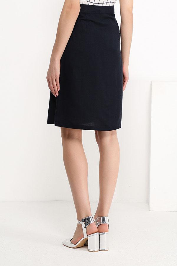 Фото 8 - Юбку женская темно-синего цвета