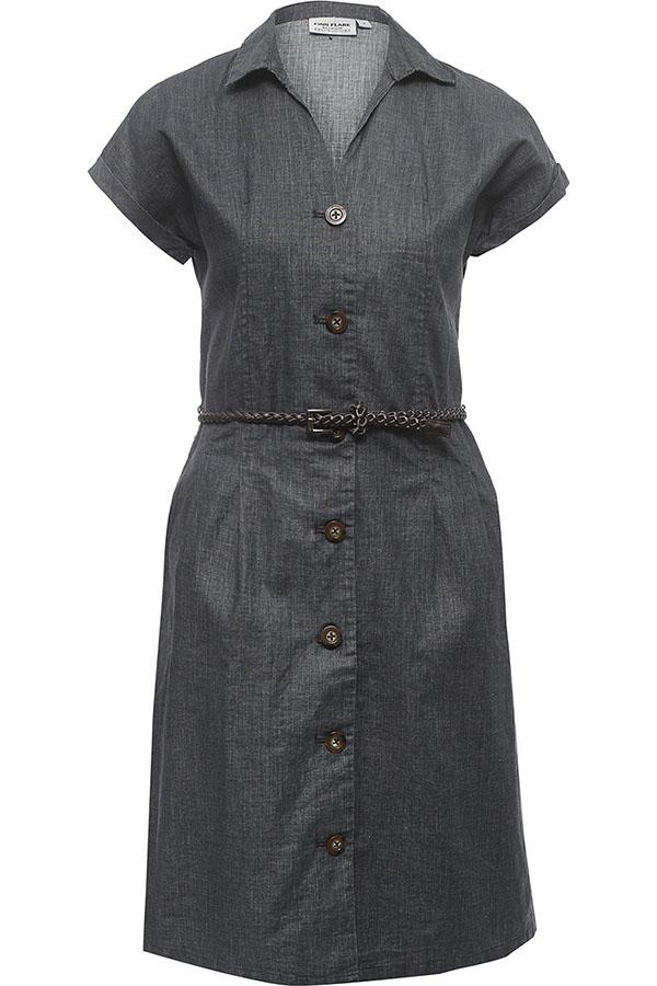 Фото 9 - Платье женское темно-синего цвета