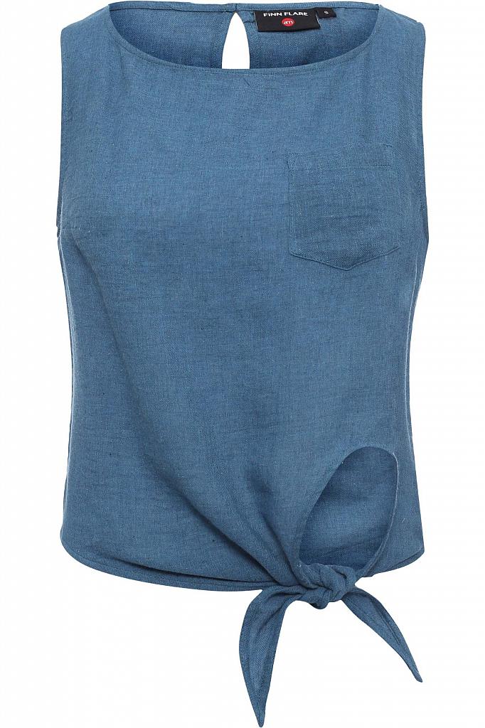 Фото 5 - Блузку женская светло-голубого цвета