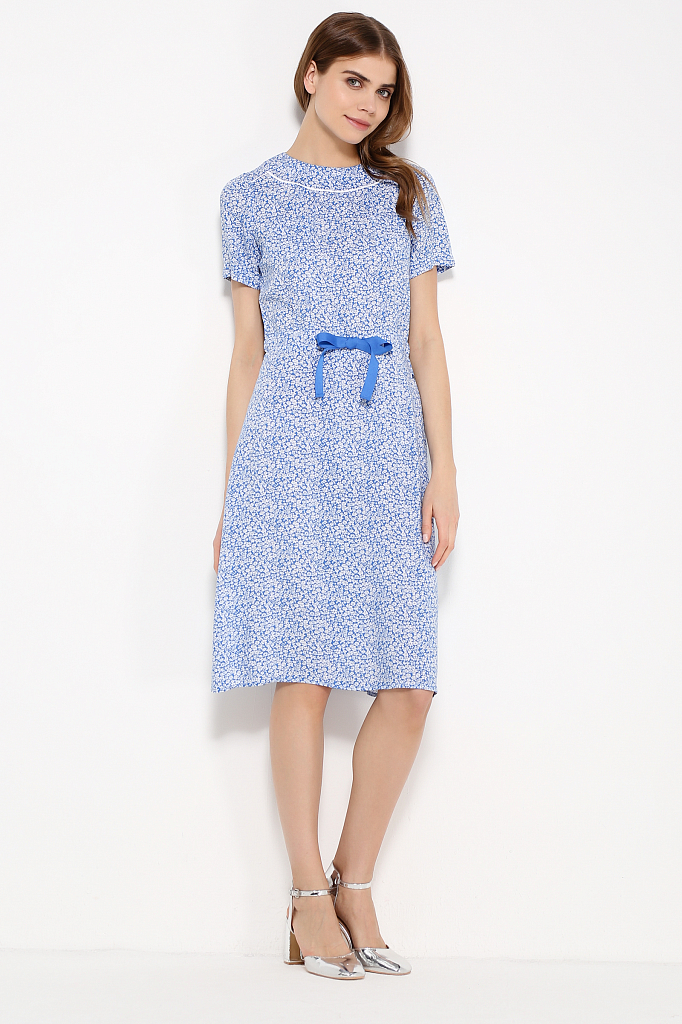 Фото 14 - Платье женское синего цвета