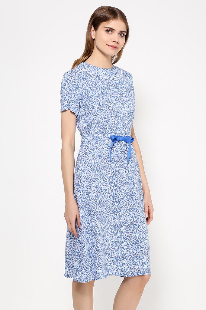 Фото 15 - Платье женское синего цвета