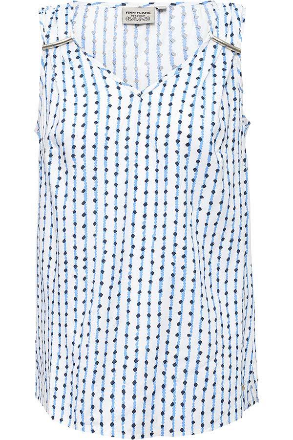 Фото 5 - Блузку женская темно-синего цвета