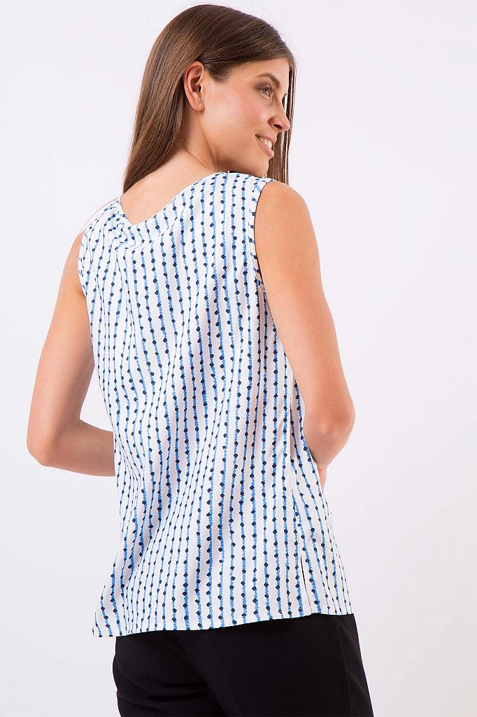 Фото 8 - Блузку женская темно-синего цвета