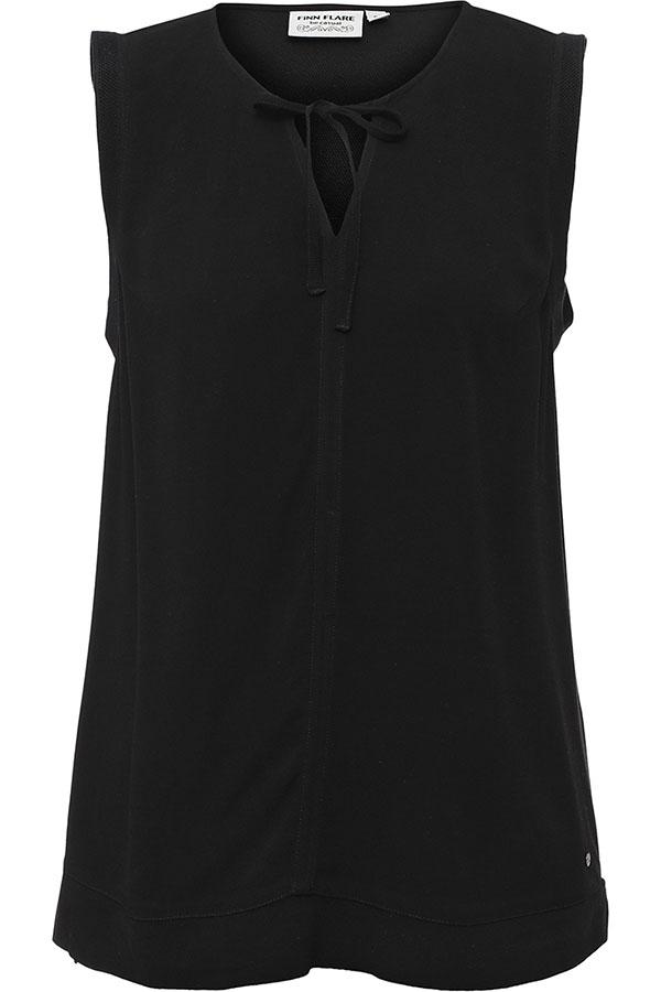 Фото 9 - Блузку женская черного цвета