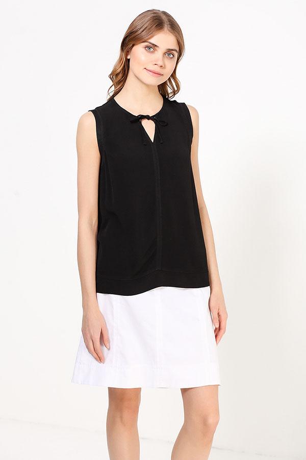 Фото 11 - Блузку женская черного цвета