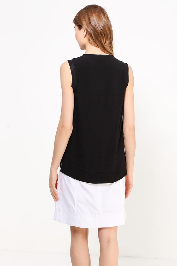 Фото 12 - Блузку женская черного цвета