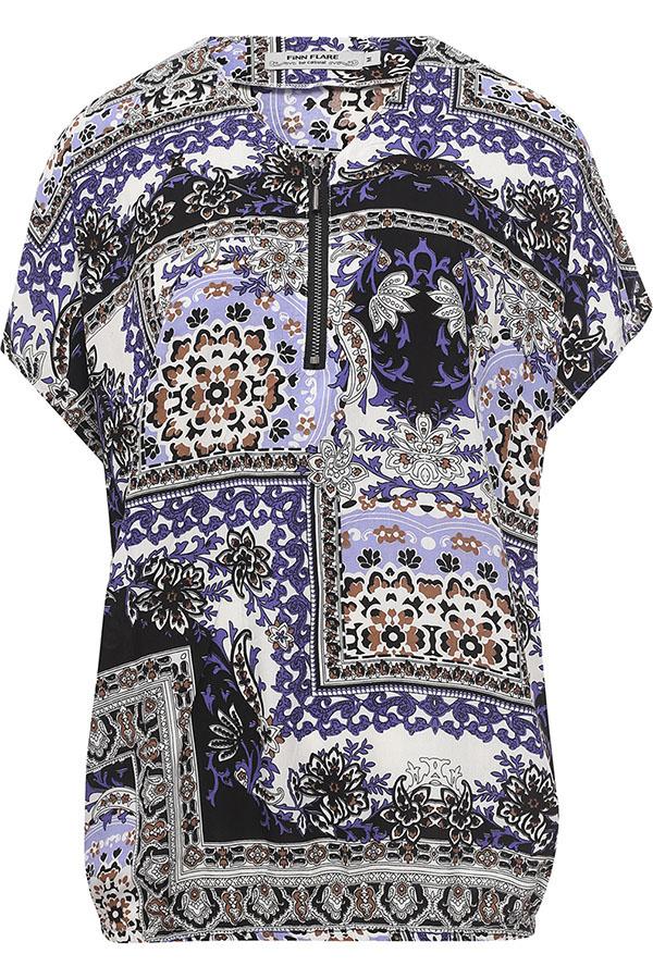 Фото 9 - Блузку женская темно-синего цвета