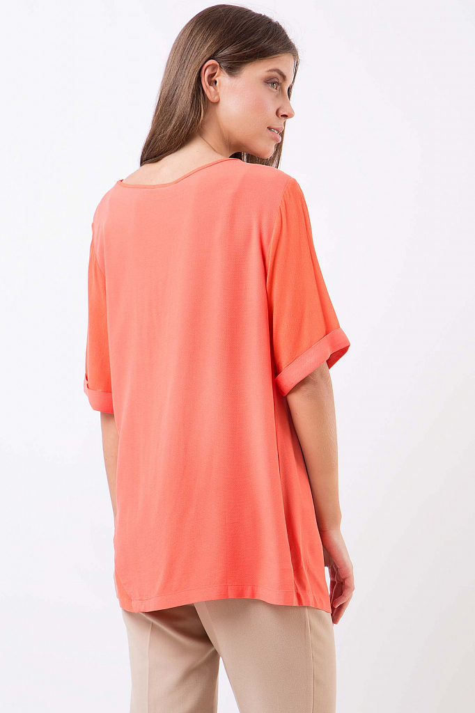 Фото 8 - Блузку женская розового цвета