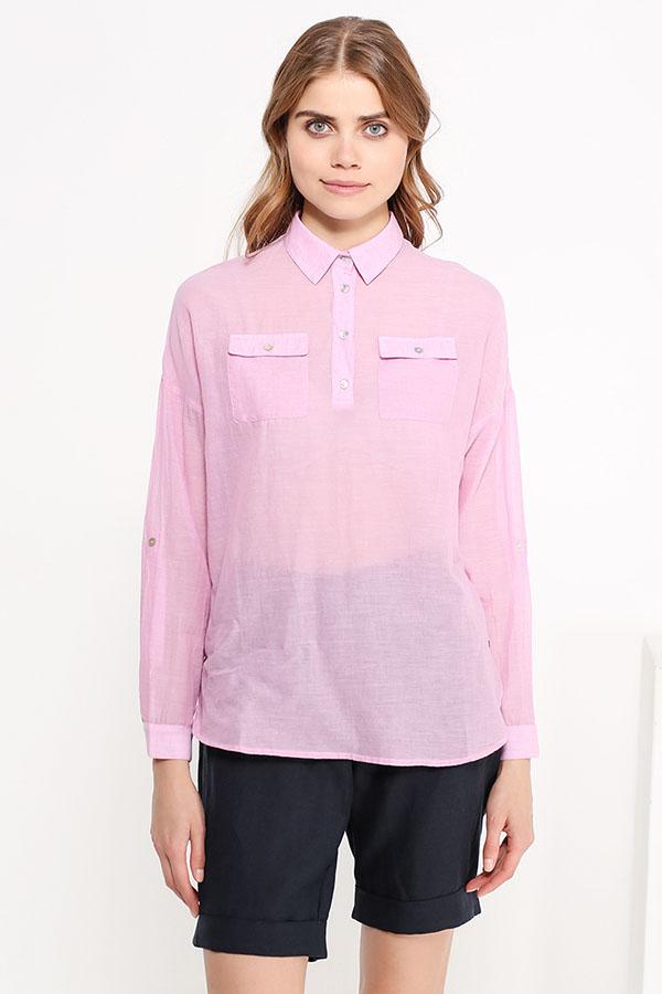 Фото 7 - Блузку женская пионово-розового цвета