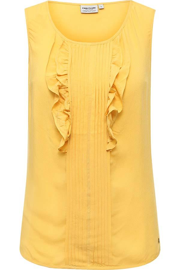 Фото 5 - Блузку женская желтого цвета