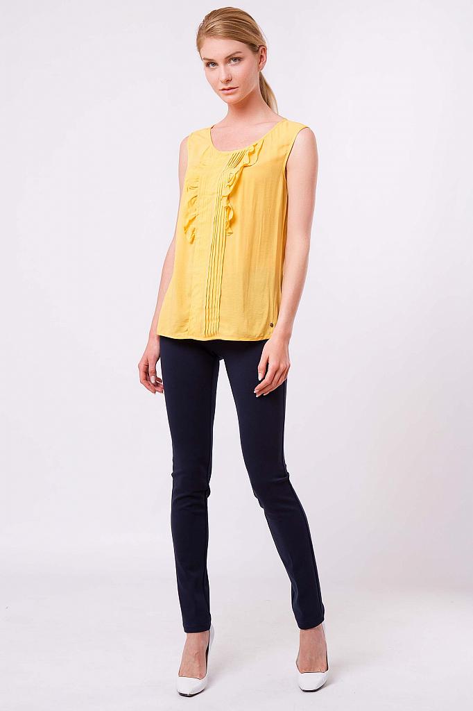 Фото 6 - Блузку женская желтого цвета