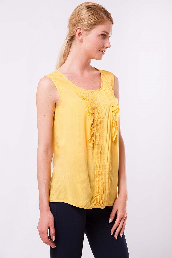 Фото 7 - Блузку женская желтого цвета