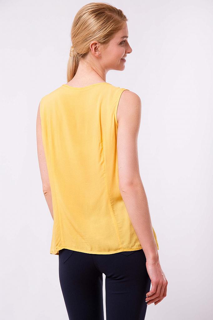 Фото 8 - Блузку женская желтого цвета