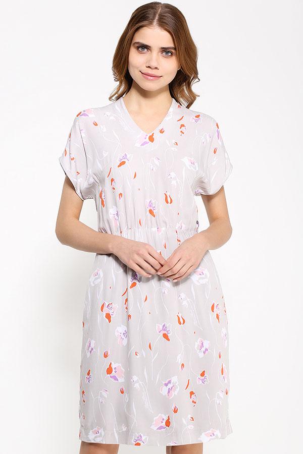 Фото 7 - Платье женское светло-бежевого цвета