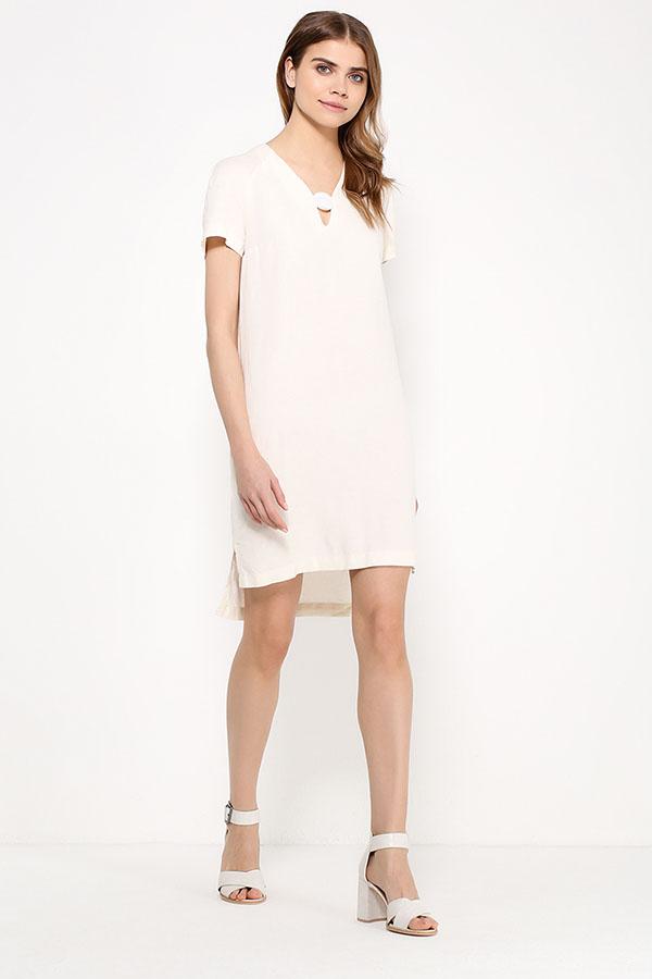 Фото 2 - Платье женское молочного цвета