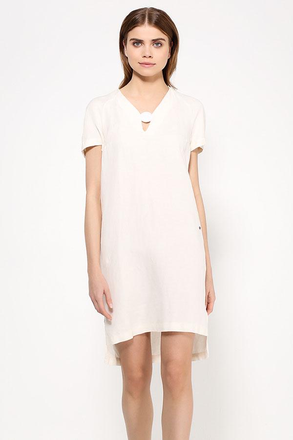 Фото 3 - Платье женское молочного цвета