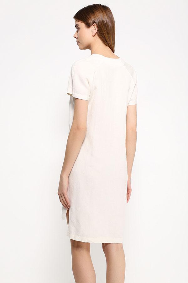 Фото 4 - Платье женское молочного цвета