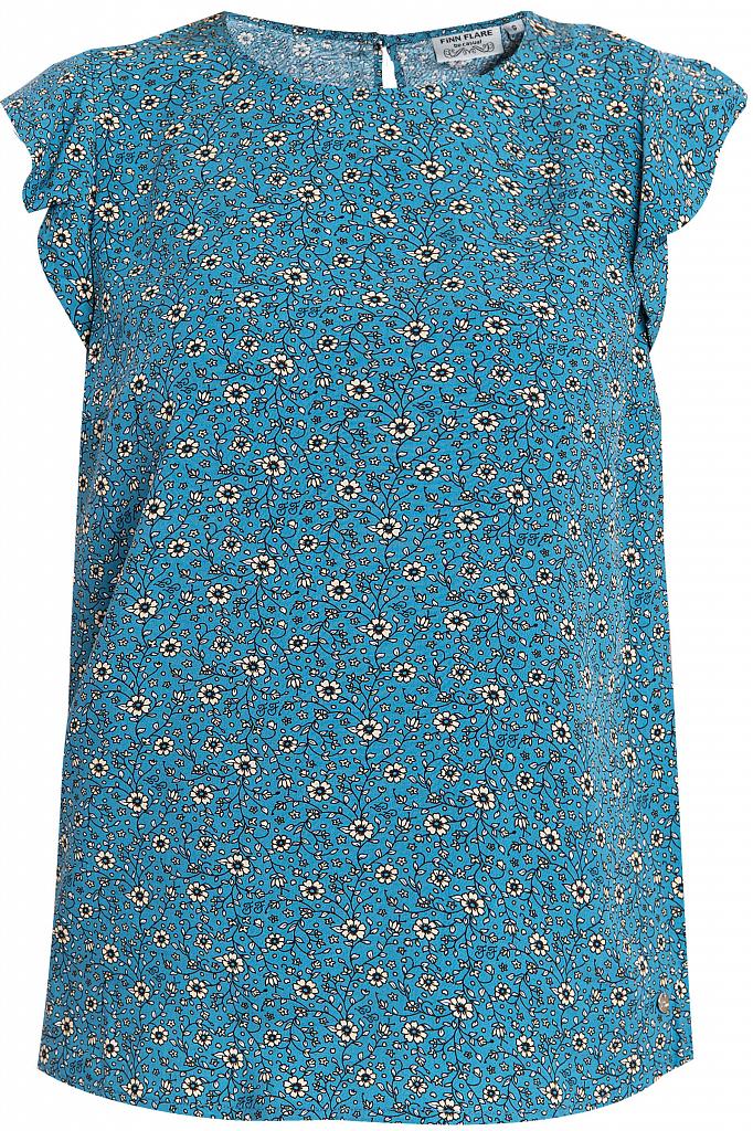Купить Блузку женская темно-бирюзового цвета