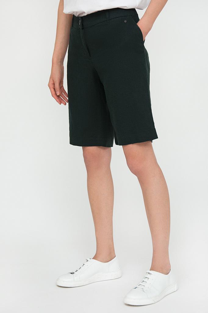 Фото 3 - Шорты женские темно-зеленого цвета