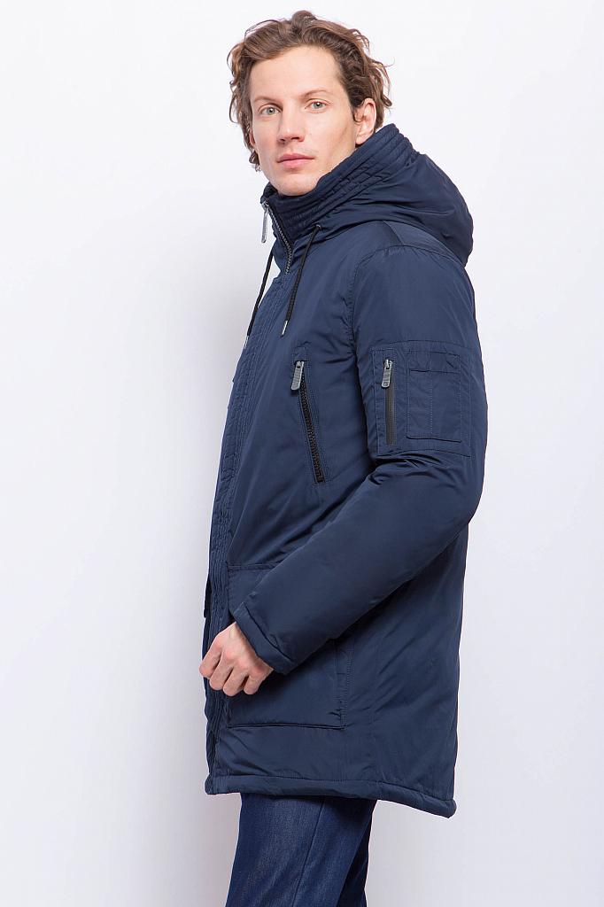Фото 16 - Полупальто мужское темно-синего цвета