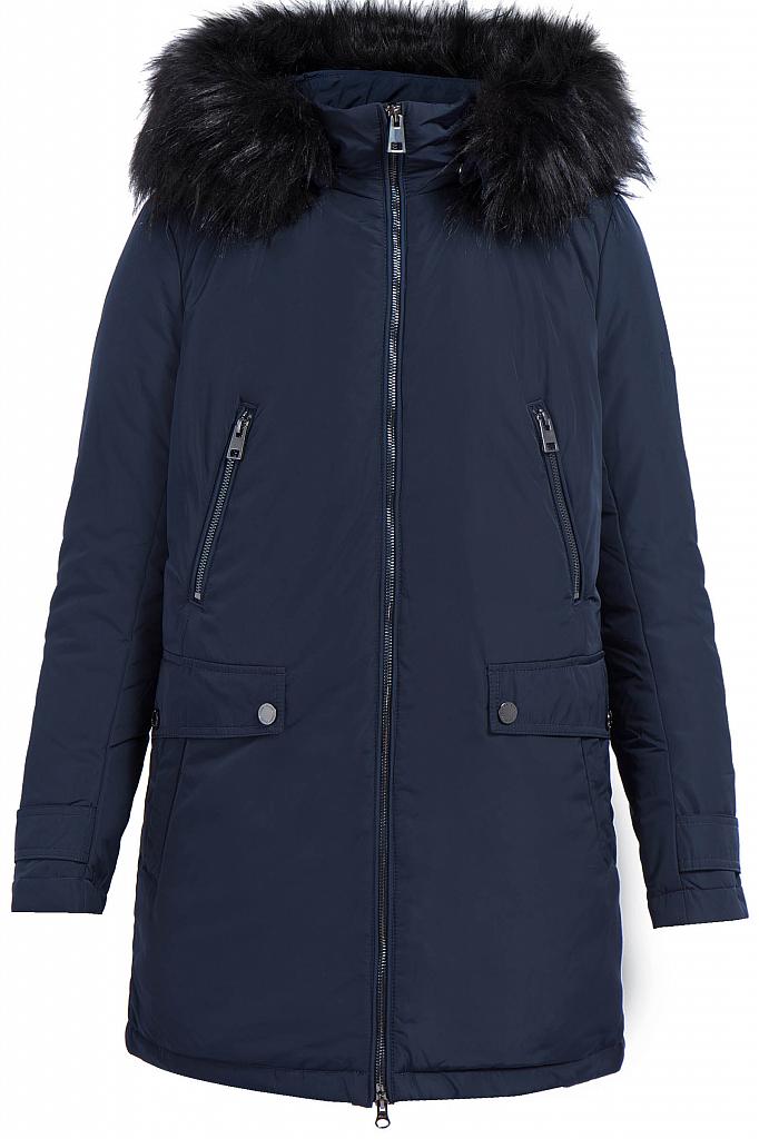 Фото 9 - Куртку женская черного цвета