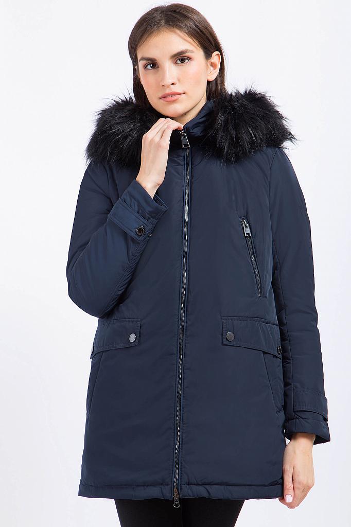 Фото 10 - Куртку женская черного цвета