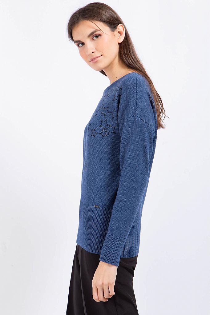 Фото 16 - Джемпер женский синего цвета
