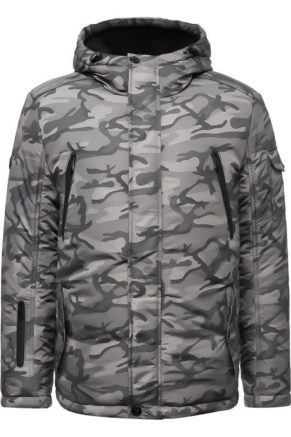 Фото 9 - Куртку мужская серого цвета