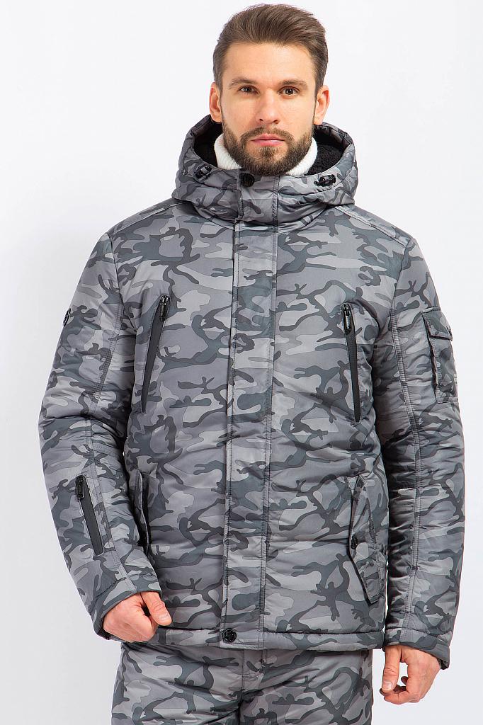 Фото 10 - Куртку мужская серого цвета