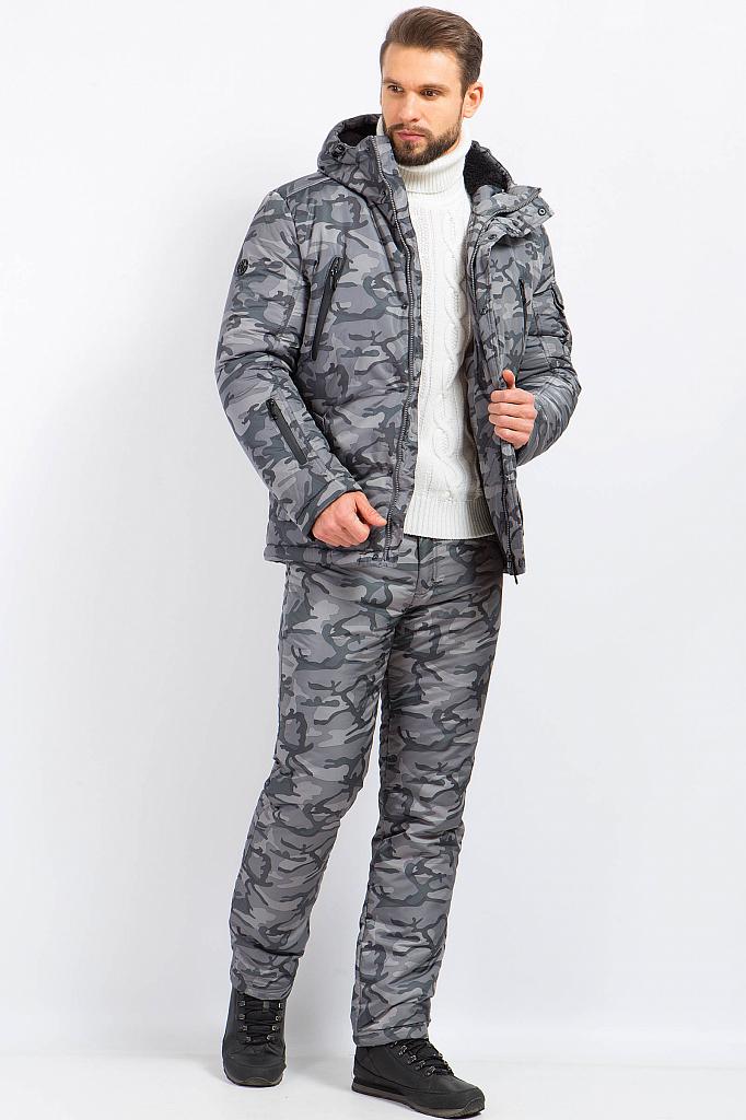 Фото 11 - Куртку мужская серого цвета