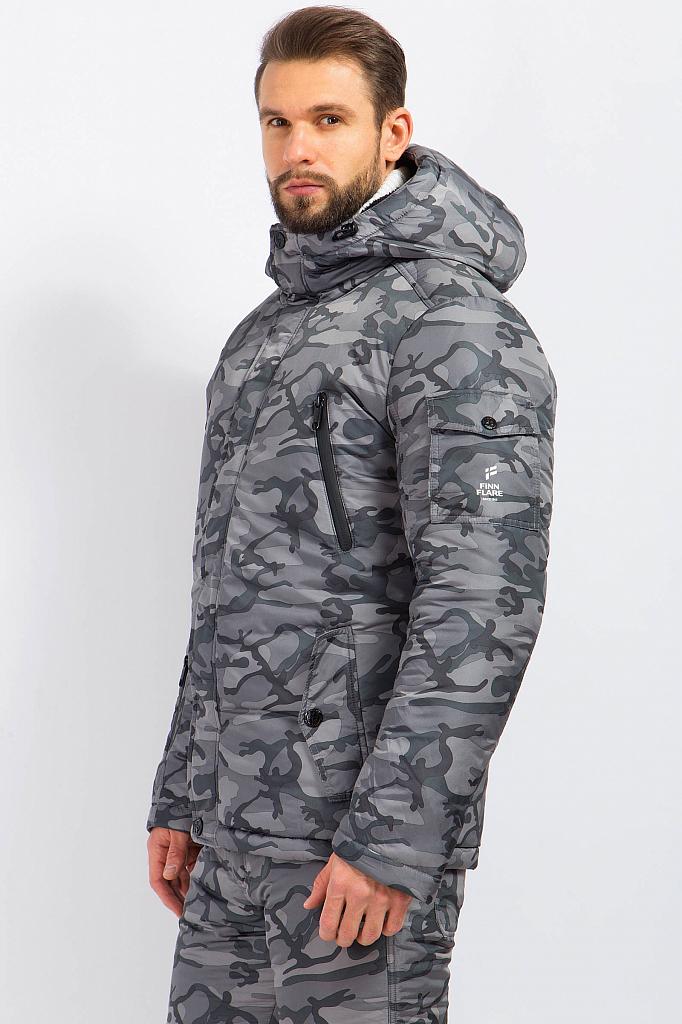 Фото 12 - Куртку мужская серого цвета