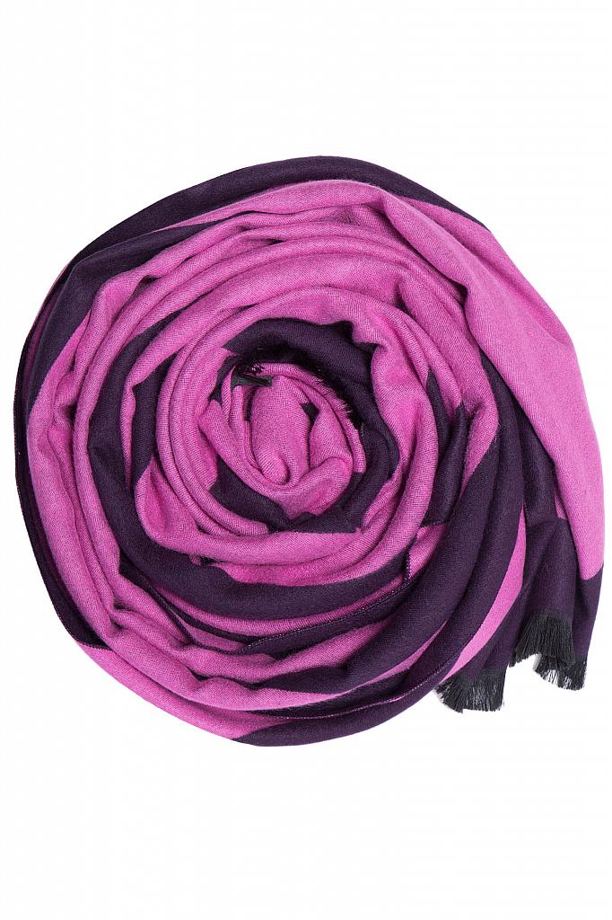 Фото 4 - Шарф женский пионово-розового цвета