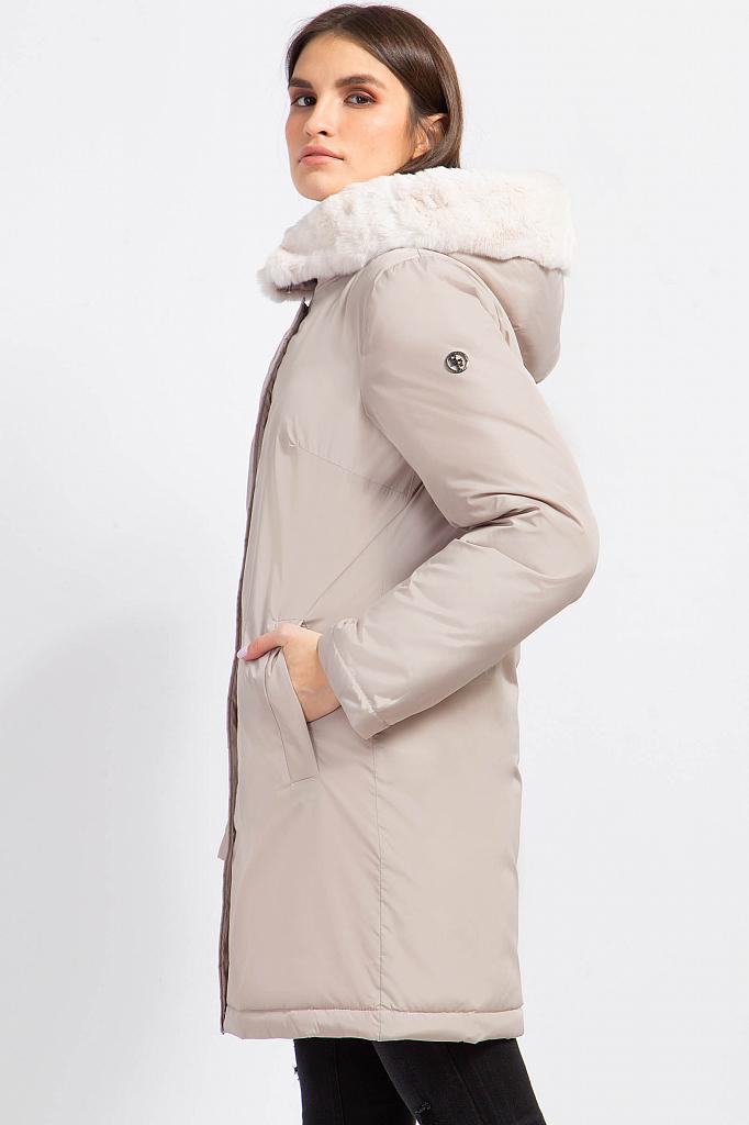 Фото 8 - Пуховик женский цвет бежево-желудевый
