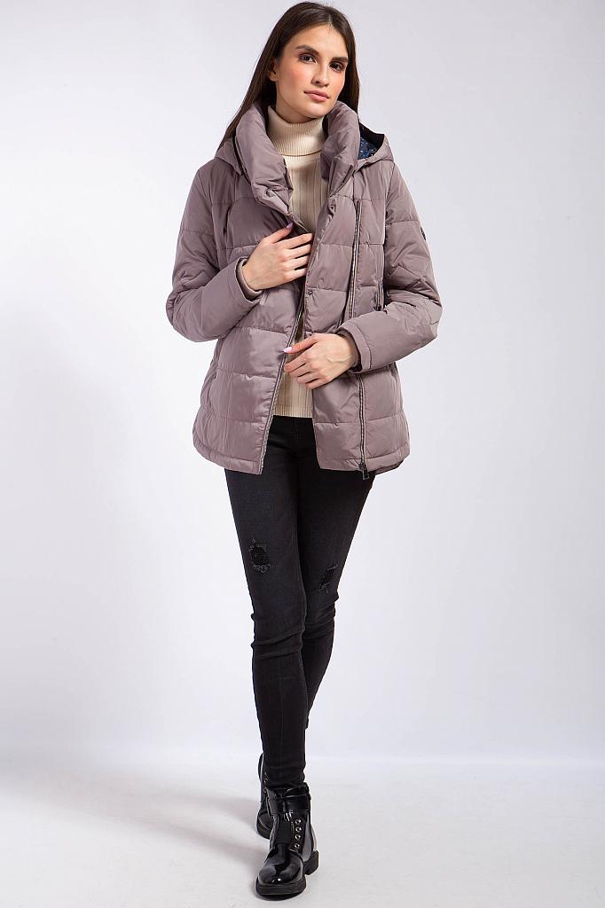 Фото 15 - Куртку женская цвет светло коричневый