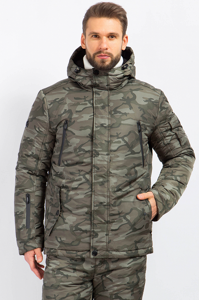 Фото 6 - Куртку мужская серого цвета