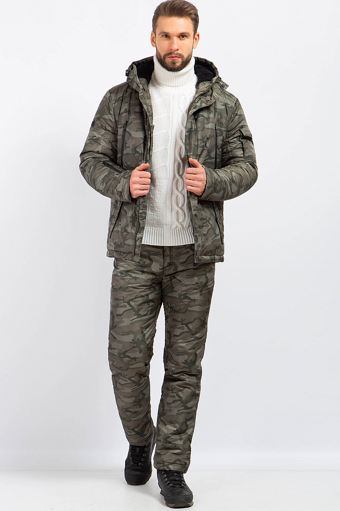 Фото 7 - Куртку мужская серого цвета