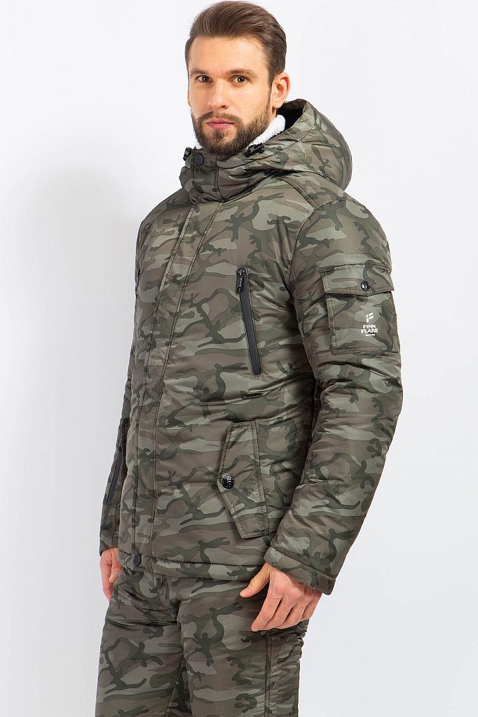 Фото 8 - Куртку мужская серого цвета