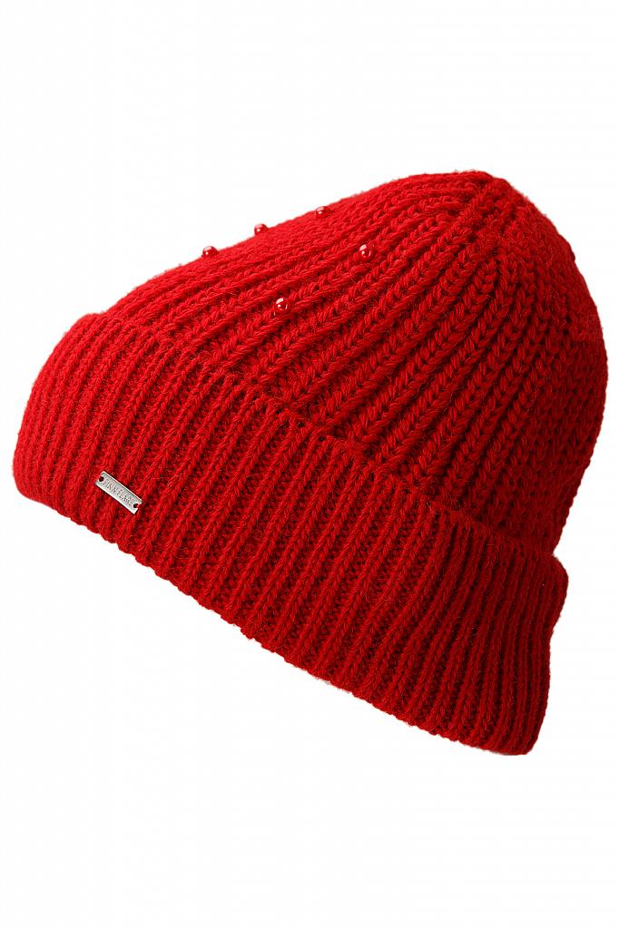 Купить Шапку женская темно-красного цвета