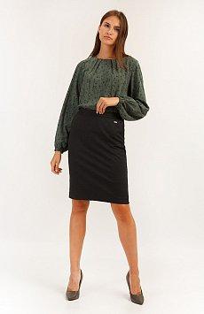 Юбка женская Finn-Flare A19-11059, цвет темно-серый